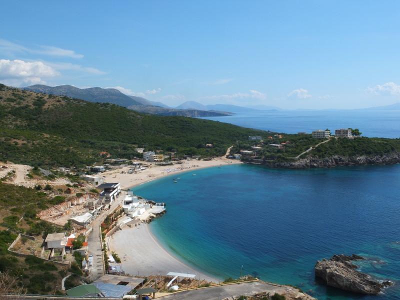 Stunning view over the main beaches of Vuno, Jali and Qeramidhe
