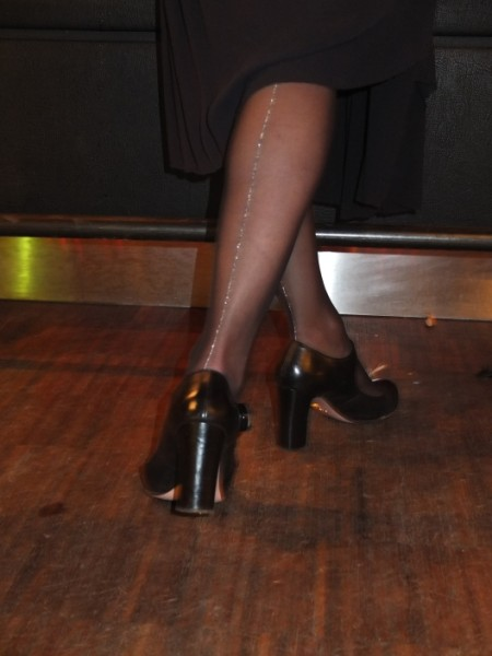 Seamed stockings by Fogal and Mary Janes pumps by Prada